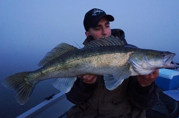 Snoekbaars numero 2, met 76 cm een prachtvis.